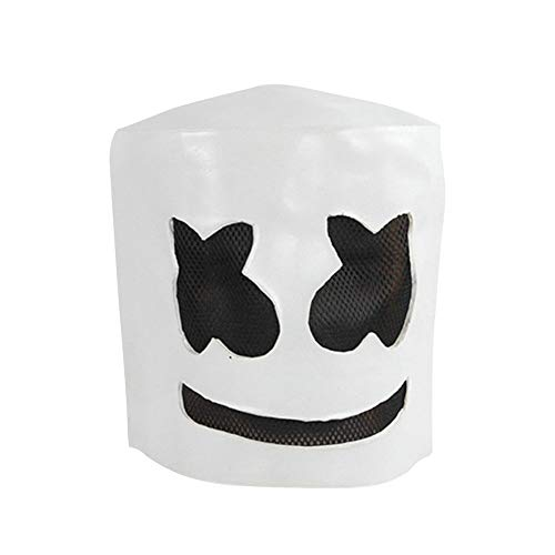 happy event Partykostüm Latex DJ Mask Helm Halloween Full Head Maske Deluxe Neuheit Kostüme für Unisex Erwachsene Party Cosplay Carnival Masken