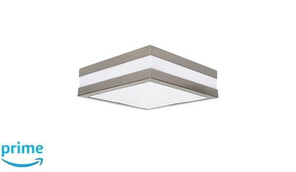 Plafoniere Da Esterno Quadrate : Lampada da parete per bagno a forma quadrata con vetro opaco