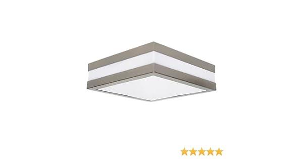 Plafoniera Quadrata Bagno : Lampada da parete per bagno a forma quadrata con vetro opaco grande