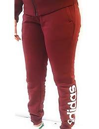 adidas ESS Lin FL PT Pantalones, Mujer, Granate Noble, L