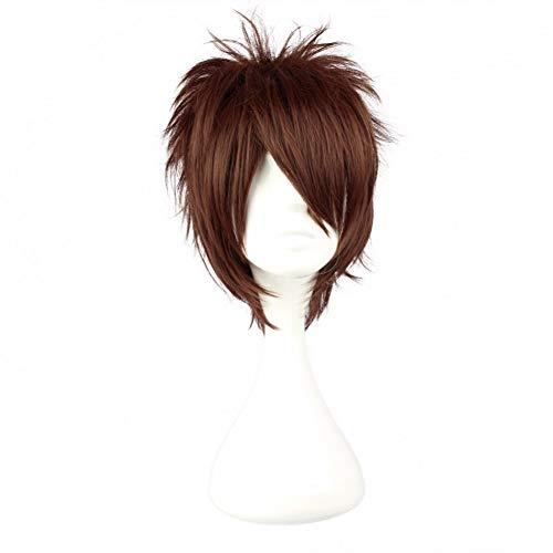 NINONGSHALEI Perücke 30 Cm Kurze Braune Synthetische Cosplay Männliche Perücke 100% Hochtemperaturfaser Haar