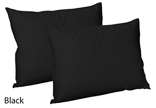Par de fundas de almohada lisas de polialgodón, mínimos cuidados de Mas internacional Ltd