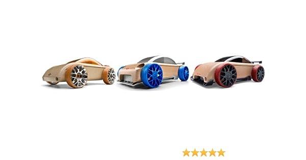 Automobile Abx-53107/Mini S9/R//C9-s Argent//Bleu Rouge et Orange 3-pack Multicolore