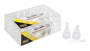 Idena 10133997 - Caja de 24 pompas de jabón para Bodas en Forma de Tarta de Boda con corazón, 19 ml, Regalo para Invitados, Color Blanco