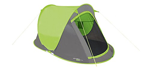 Yellowstone Waterproof Fast Pitch Unisex Outdoor Pop-Up Tent, Multicolour (Lime), 2 Persons