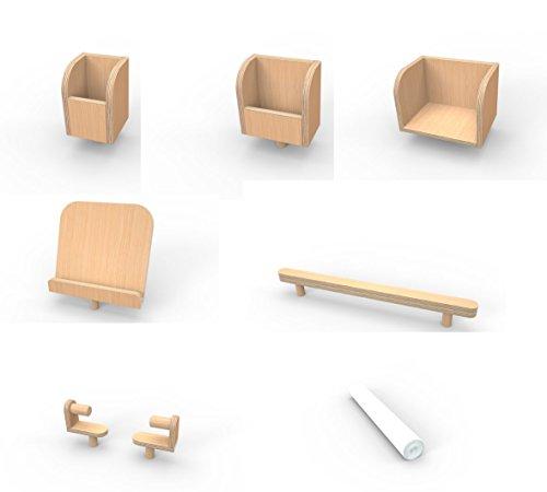 Pure Position - Set di Strumenti da tavola Growing Table, in Legno di faggio