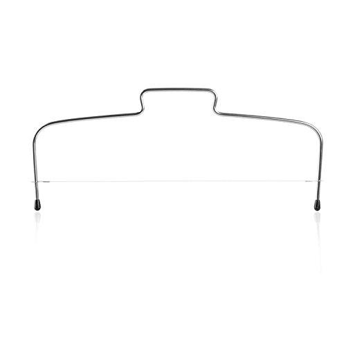 Wenco Tortenbodenteiler mit gezahntem Schneidedraht, Stahl/Edelstahl, Silber, 518017