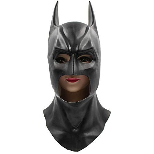 KYOKIM Batman Maske Kind Erwachsener Halloween Mottoparty Helm Cosplay Karneva Herren Held Vollen Kopf Deluxe Replik (Kostüm Batman Replik)