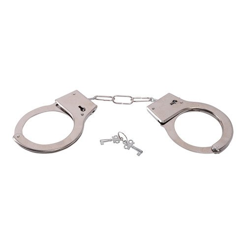Dildoridoo - Metall Handschellen mit Schloß - Metal Handcuffs with key, Silber