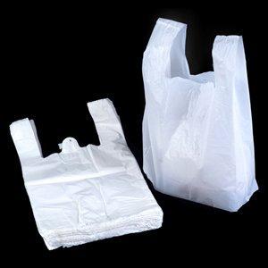 Style Débardeur Blanc en plastique Sacs–27,9x 43,2x 53,3cm–(1Boîte = 100sacs)