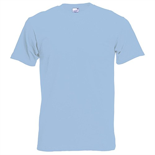 Fruit of the Loom Herren T-Shirt Sky Blue