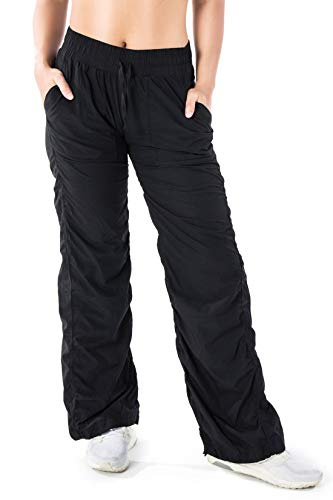 Yogipace Damen Leicht Quick Dry Casual Active Pants Jeden Tag Hose für Reisen Pendeln Yoga Dance Studio, Damen, schwarz, XS-Waist(25