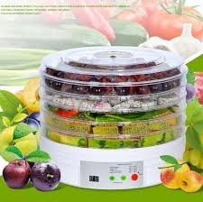 HaRvic Digital Dehydrator for Food Fruit - Electric Food Saver Fruit Dehydrator Preserver Dry Fruit Dehydration Machine with 5 Stackable Tray