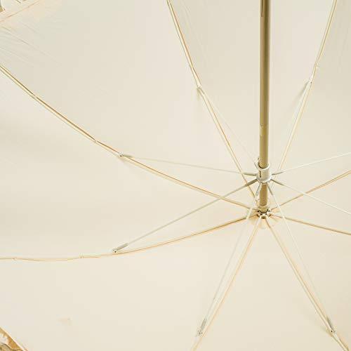 ddc72e09e994 BOLERO OMBRELLI - Ombrello da Pioggia Lungo classico da Sposa adatto per il  tuo Matrimonio - apertura Manuale - Tessuto Pongee con Ruffle