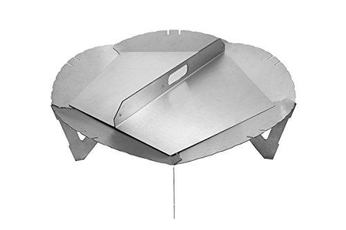 Premium Feuerschale 80 cm im Turbinen Design mit Deckel-Set • Feuerkorb für den Garten • Feuerstelle als Grill • zerlegbar (Feuerschale + 2 Deckel)