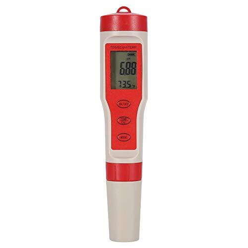 Nikou Digitales PH-Messgerät - Wasserqualitätstester 4-in-1 Wasserdichter pH/TDS/EC/Temp-Tester Monitor-Messgerät Teststift für Trinkwasseraquarien Poolhydroponik -