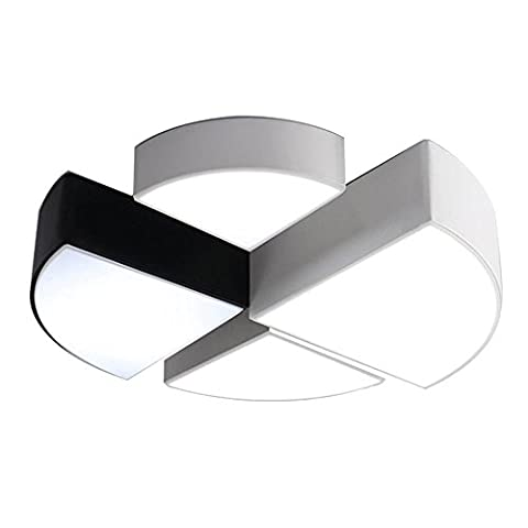 DDNL Modern Acrylic Creative Geometry Ceiling Light,LED Flush Mount Ceiling Lamp for Living Room, Bedroom,Dining Room,Kitchen,Hallway,Bathroom,Remote Control Sector Ceiling