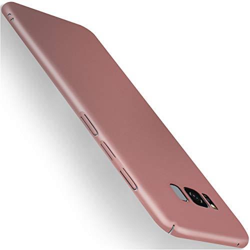 moex Samsung Galaxy S8 | Hülle Rose-Gold Alpha Back-Cover TPU Schutzhülle Dünn Handyhülle für Samsung Galaxy S8 Case Ultra-Slim Thin Skin Handy Schutz Rückseite