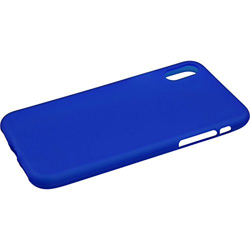 PhoneNatic Custodia Apple iPhone X Cover bianco stuoia iPhone X in silicone Case Blu
