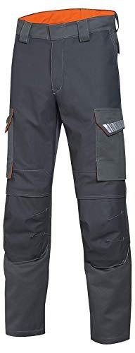 Uvex Arbeitshose Protection Metal 8935 - Flammhemmende Bundhose, blau-gelb, Gr. 44