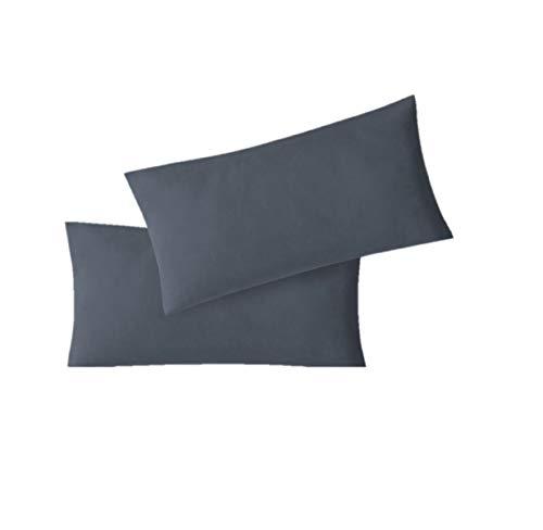 EXKLUSIV HEIMTEXTIL Kissenhülle Doppelpack mit Reißverschluss 5 Größen Jersey