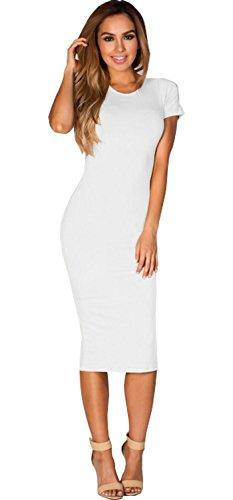 Vanilla Inc - Robe - Manches Courtes - Femme rouge * taille unique Blanc