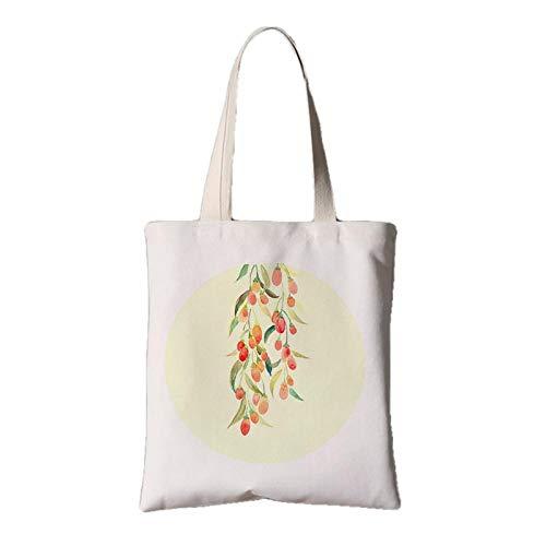 fonxoy-Storage bag Groß-Shopping-Bagsvintage Chinesische Feng Shui Stofftasche Weibliche Schulter Tragbare Einkaufstasche