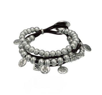 comprare a buon mercato vestibilità classica consegna veloce Uno de 50 bracciale statement da donna placcato in argento ...