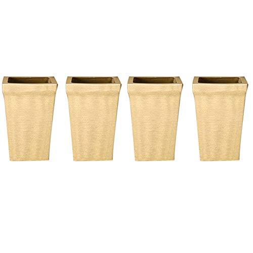 Furniture legs gambe mobili, piedi in metallo sedia in rame puro quadrato tv gabinetto armadio bagno copertura del piede 46mm (4 pezzi)