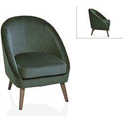 Andrea House - SILLON REDONDO VELVET VERDE color Verde de estilo Clásico Chic, Contemporáneo, Vintage