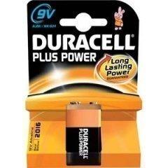 DURACELL Batterie Plus Power 6LR61 9V-Block Blister, Alkaline, 9V 9v Volt Duracell Batterien