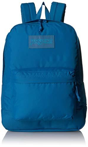 JanSport Mono Superbreak Rucksack - Leichter Schulrucksack, Blue Jay (Blau) - JS0A3P6X54L-420 - Jansport Superbreak Rucksack Schule