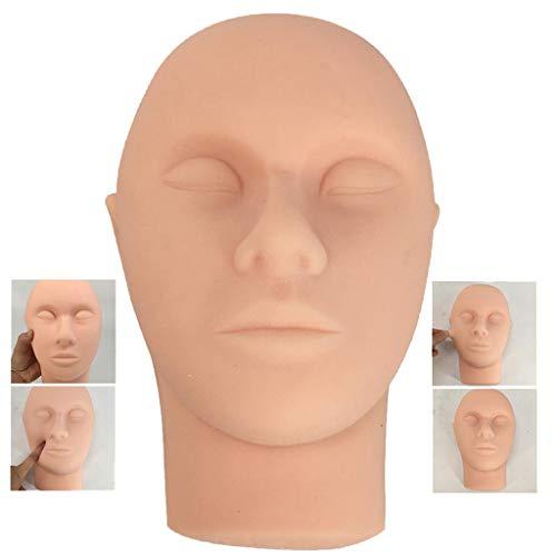 LUCKFY Silikon Haut Naht-Gesichtsbehandlung Modell Umweltfreundliche PVC Material Hohe Simulation Naht Praxis & Training Tool Schule Lehrmittel (Erweiterte Frisur)