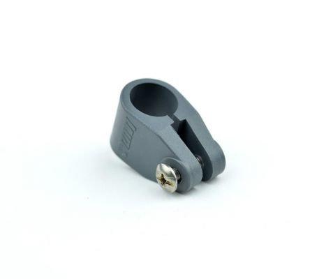 Persenninghalter, Grau, 55 x 30 x 30 mm, geklemmt, Ø 22 mm