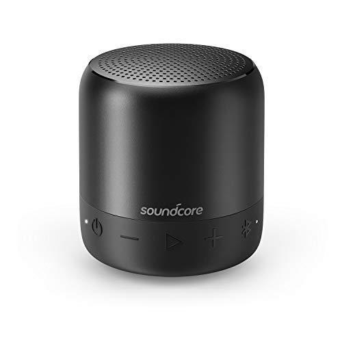 Soundcore Mini 2 Bluetooth Lautsprecher von Anker, mit Wasserschutzklasse IPX7, 15 Stunden Spielzeit, 20 Meter Bluetooth Reichweite und Starkem Bass (Schwarz) - Wasserdicht Mini Stereo