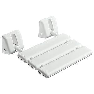 Animo 0001RD31 Duschklappsitz, weiß, beschichtetes Aluminium, ABS