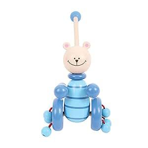 Bigjigs Toys Push Along (Blue Bear)