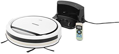 MEDION MD 16192 Saugroboter mit Ladestation, langer Laufzeit (80 Min.), 3 Reinigungsprogrammen und 350 ml Aufnahmevolumen, weiß