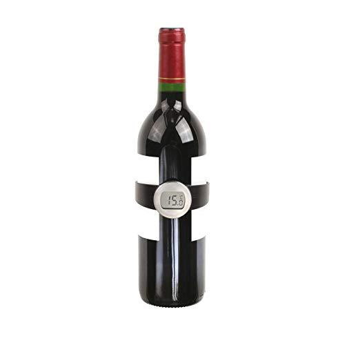 Weinthermometer Flasche Temperaturmesser Wein Edelstahl Digital (LCD-Anzeige, Flaschen-Thermometer, Küchenthermometer, Weinflasche, Barzubehör)