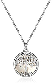 Mestige Women's Willow Tree of Life Necklace with Swarovski Crystals - MSNE