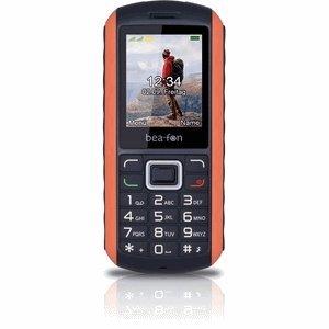 Beafon AL550_EU001BO Mobiltelefon (Dual SIM, TFT Farbdisplay, VGA Kamera, Bluetooth, IP67 (Staubdicht & Wasserdicht, 4,6 cm (1,8 Zoll schwarz/orange