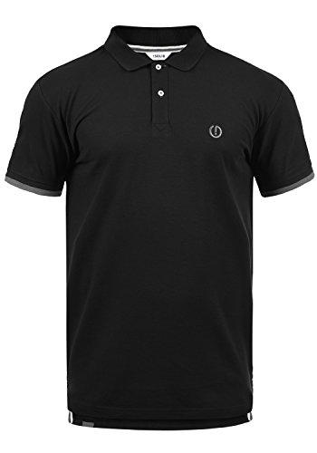 !Solid BenjaminPolo Herren Poloshirt Polohemd T-Shirt Shirt mit Polokragen, Größe:L, Farbe:Black (9000)