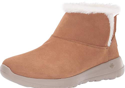 Skechers ON-The-GO Joy-Bundle UP 15501, Botines para Mujer, Marrón Castaña, 39 EU