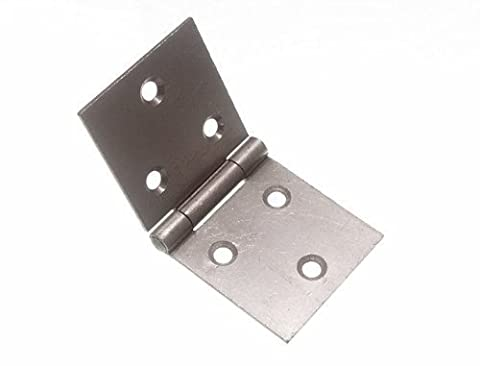 BACKFLAP HINGE SC SELF COLOUR STEEL 50MM X 105MM WITH SCREWS ( 3 pairs )