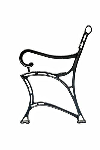 2er Set Gartenmöbel Füße Beine aus Aluminium Gartenbank Beine Parkbank Beine (mit der Armstütze)