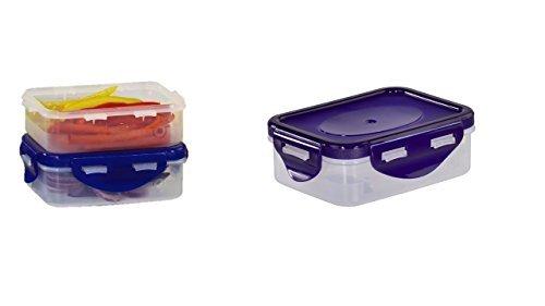 Blau, 6 Stück Kunststoff, Mini-Aufbewahrungsboxen, mit Deckel