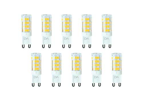 Set di 10 LAMPADINE LED BISPINA G9 - 4W - 340 Lumen - 220/240V - misure ø 16x50mm - luce naturale 4000K° raggio di illuminazione 360° - non dimmerabili