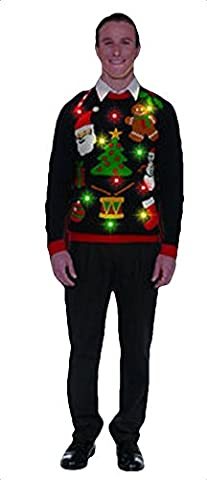 Forum Everything Christmas Light Up Sweater