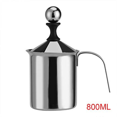 Dergtgh 400ML / 800ml Handbuch Milchaufschäumer Edelstahlgewebe Milch Creamer Schaum-Mesh Kaffee Schäumer Creamer Design Creamer