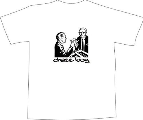 T-Shirt E1223 Schönes T-Shirt mit farbigem Brustaufdruck - Logo / Grafik / Design - Geschäftsmänner trinken Martini in einer Bar Mehrfarbig